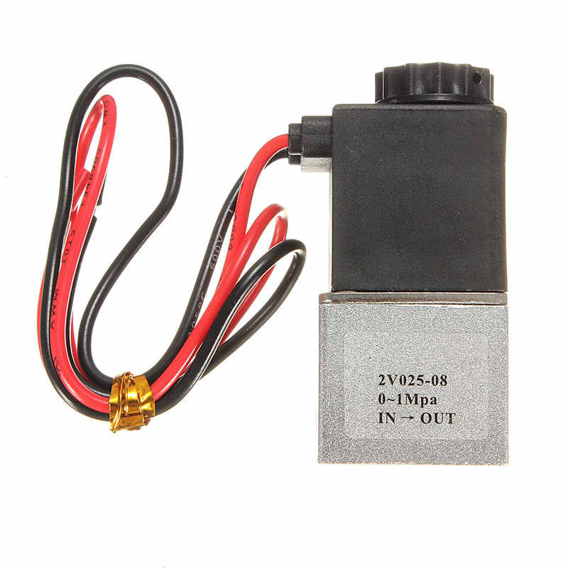 Best Price DC 12V 1/8 2 Way Normally Closed Electric Solenoid Air Valve Pneumatic Aluminum for Air,Gas,Liquid,Water