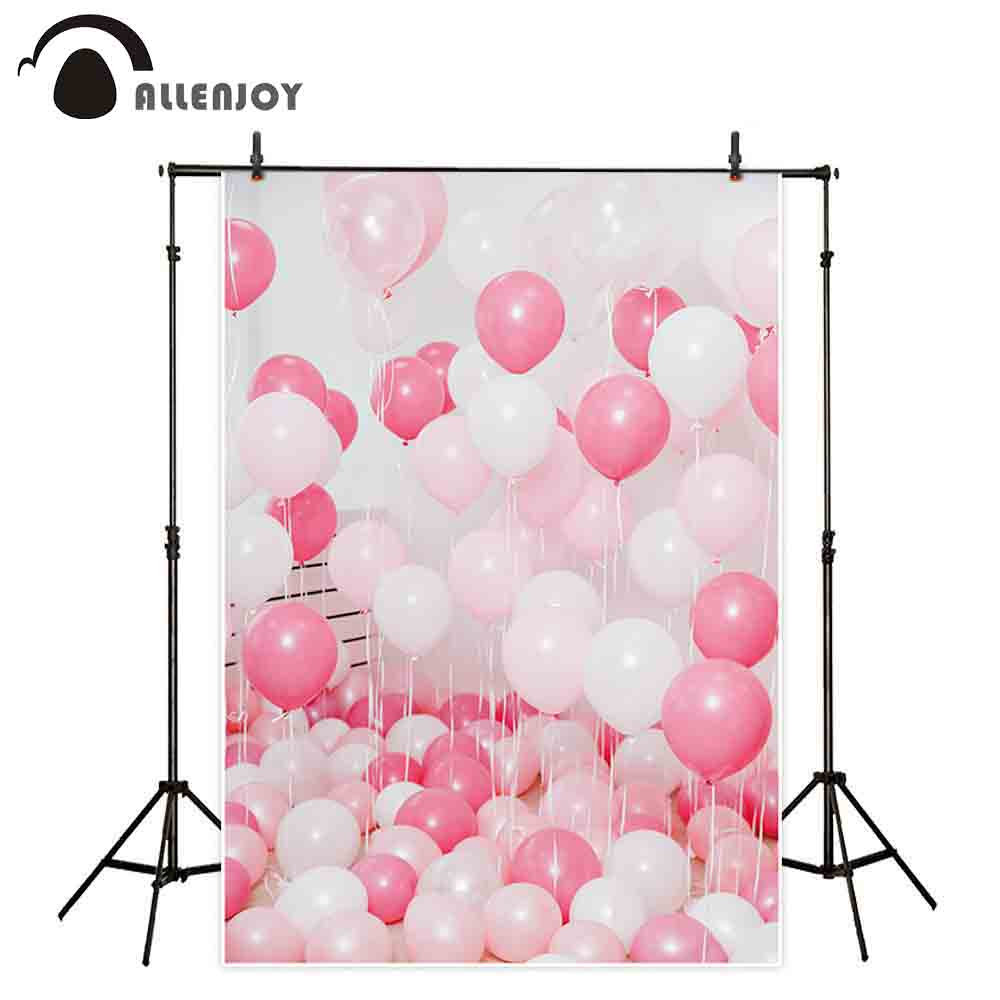 Allenjoy kids background for photography Interior room pink white balloons baby girl birthday backdrop photo studio photocall allenjoy photography backdrops circus backdrop balloons for children birthday party for a photo shoot photography background