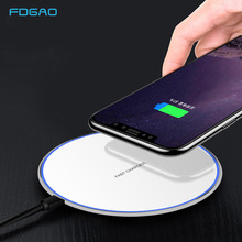 FDGAO 10W Fast Wireless Charger for iPhone X XS 8 Plus QI Fast Wireless Charging pad for Samsung S9/S9+ S8 Note 9 Xiaomi Huawei все цены
