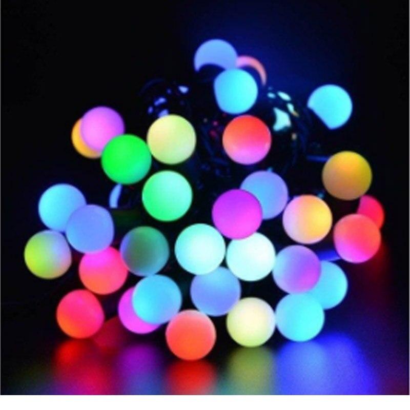 5M LED Ball String Lights  RGB Changing Patio Lights Christmas Light Lighting For Wedding Home Garden Lawn Party Decor EU Plug