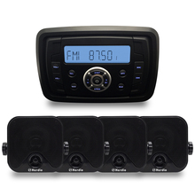 Marine Compact Bluetooth Stereo Motorcycle Audio Radio MP3 Player