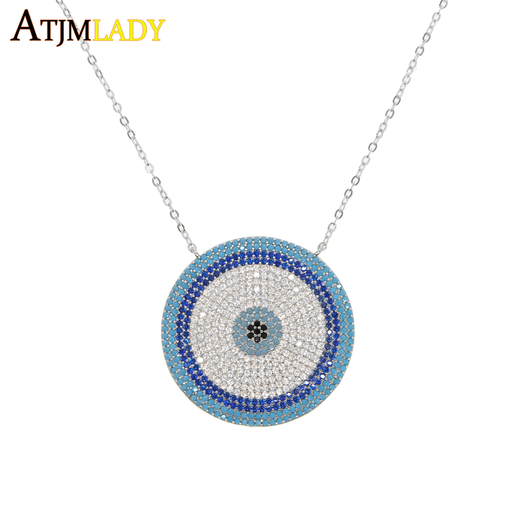 2018 micro zirconia greek evil eye charm 925 sterling silver lucky 2018 micro zirconia greek evil eye charm 925 sterling silver lucky blue eyes necklace elegant women girls exquisite gift jewelry in pendant necklaces from aloadofball Choice Image