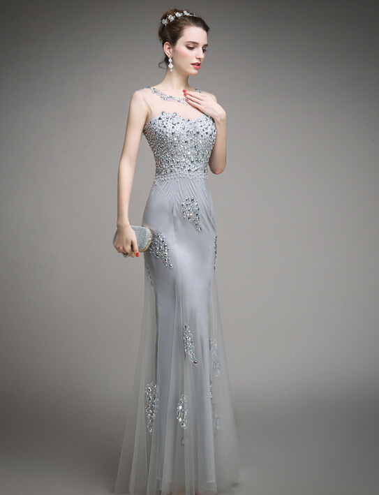 Popular Silver Long Dress-Buy Cheap Silver Long Dress lots from ...