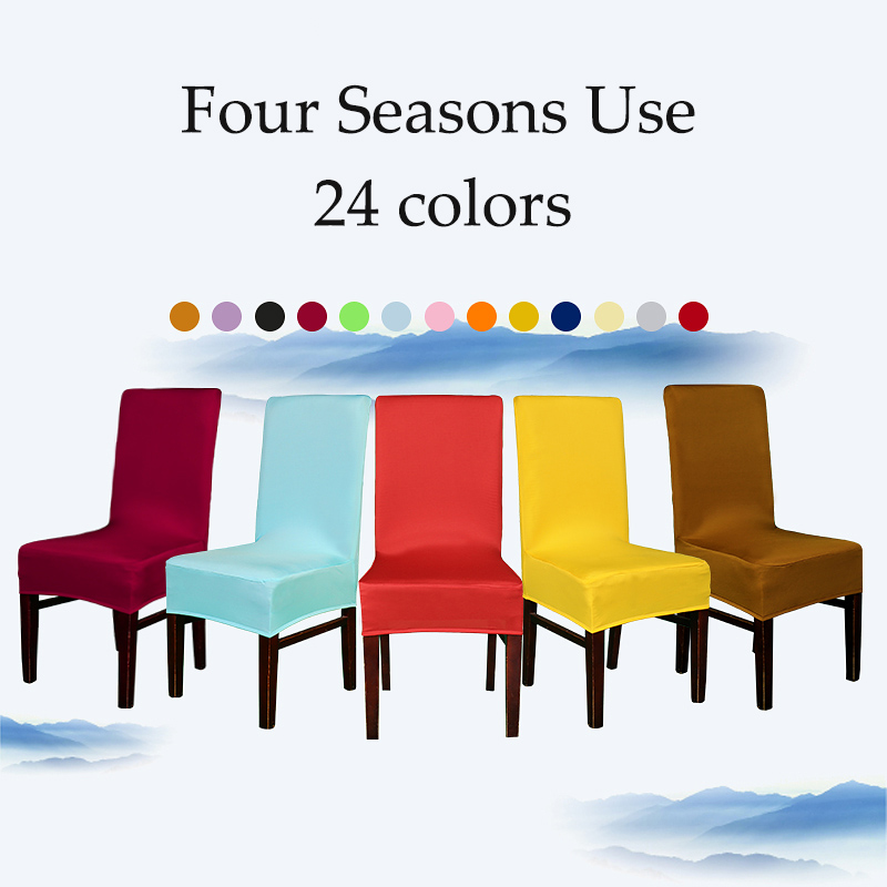 Fine Us 5 96 40 Off Fashion Multicolor Polyester Spandex Elastic Dining Chair Covers Wedding Decoration Black Red White Chair Cover Universal Sizes In Pdpeps Interior Chair Design Pdpepsorg