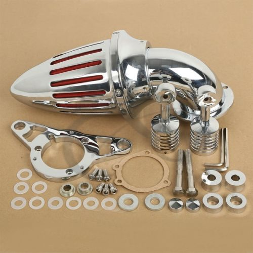 TCMT Motorcycle Chrome Air Cleaner Intake Filter For Harley Softail Night Train Fat Boy 2001-07 Dyna Fat Bob Low Rider Softail chrome motorcycle spike air cleaner filter case for harley softail rocker cross bones 2008 2009 touring softail dyna 2004 2007