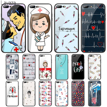 цена на Lavaza Doctor nurse medical Tempered Glass Case for Apple iPhone 6 6s 7 8 Plus X 5 5S SE XS 11 Pro Max XR Cover