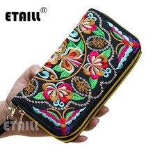 Женский кошелек с вышивкой в виде павлина, Таиланд, бохо, женский клатч, Длинный кошелек, сумка для монет, женская сумка для мобильного телефона, роскошный брендовый кошелек для женщин