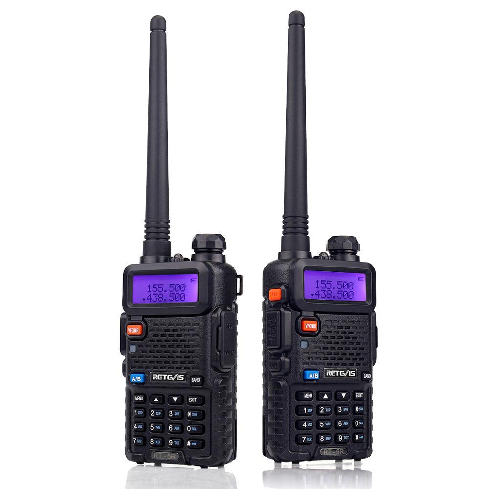 10pcs RETEVIS RT5R Walkie Talkie VHF UHF Dual Band Ham Amateur Radio VOX FM Portable Two-Way Radio Communicator Walkie Talkies