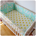 5pcs/set Top Quality Cheap Cotton Baby Children Crib Bedding Set Infant Cot Bedding Sets Baby Bed Bumper Sheet Chichoneras Cuna