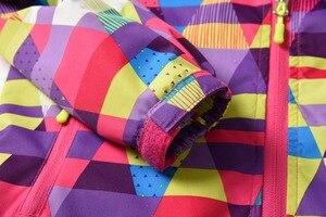 Image 5 - 방수 색인 5000mm Windproof 아기 소녀 자 켓 어린이 코트 따뜻한 폴라 양 털 어린이 겉옷 3 12 년 오래 된