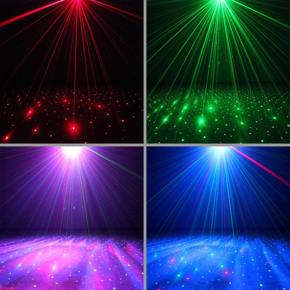 AUCD מיני מרחוק Galaxy כוכב RG לייזר מקרן אורות לערבב אורורה RGB LED אפקט קרן מנורת בית המפלגה DJ להראות תאורה LL-100RG