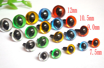7.5mm-12mm Transparent Amigurumi Animals Eyes/ Cat Eyes/ Safety Eyes / Come With Washers