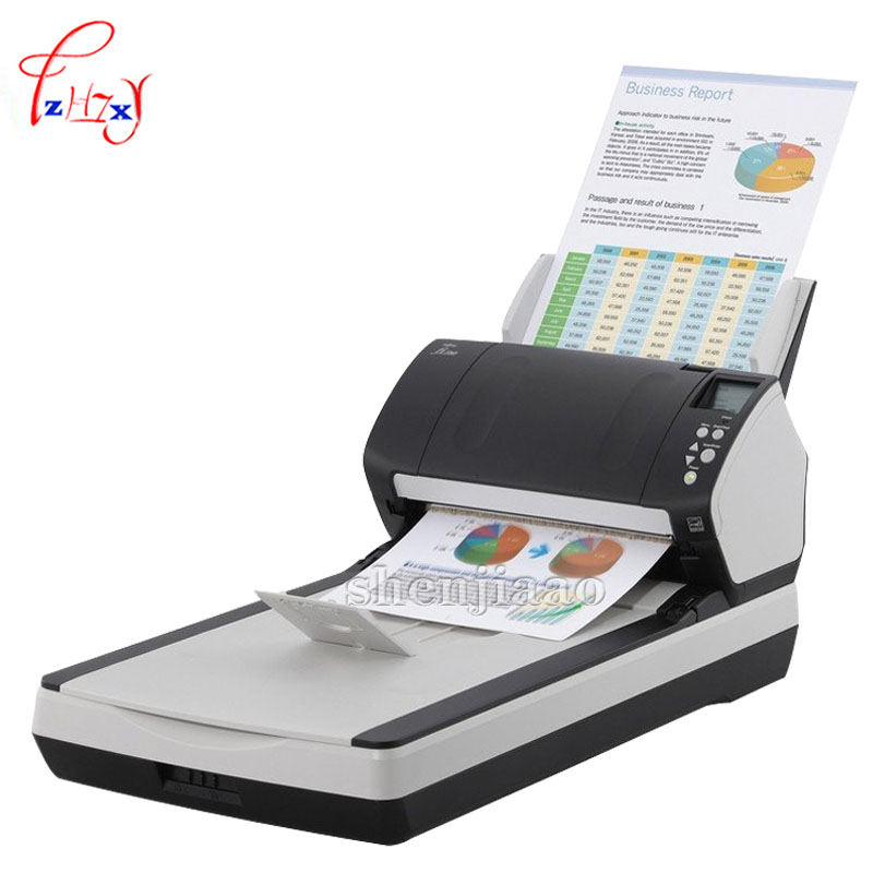 FI-7240 Flatbed Scanner High speed automatic double feed  scanner Flatbed (FB) A4 size Automatic Document Feeder scanner 1pc