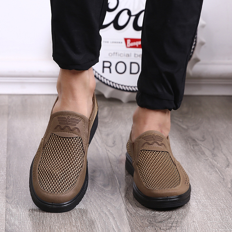 Merkmak Comfortable Men Casual Shoes Breathable Mesh Summer Men Shoes 2020 New Non-slip Lightweight Sneakers for Men Big Size 48 4