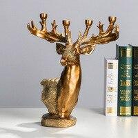 Подсвечники креативный Европейский металлический арт олень подсвечник олень Подсвечник рождественский подарок фонарь 3DZTY25