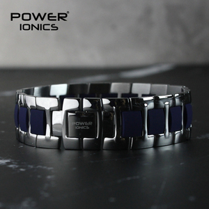 Image 5 - כוח Ionics אופנה ספורט גברים נשים בריא אניון צמיד טיטניום פלדה יונים טיפול רחב צמידי צמיד אוהבי מתנה