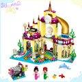 Бесплатная доставка БЕЛА 10436 383 Шт. Принцесса Подводный Дворец Модель Строительные Наборы Блоков Кирпича Девушка Игрушки Совместимость