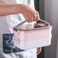 MICCK нержавеющая сталь термальный Ланч-бокс Портативный Bento box экологичный контейнер для хранения еды для пикника школьного офиса работника