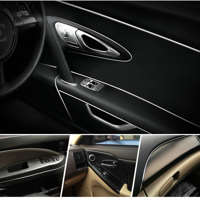 8 Meters Silver Universal Car Styling Flexible Trim For Car Interior  Exterior Moulding PVC Decorative