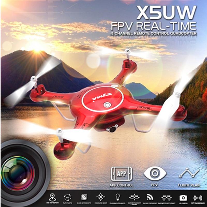 SYMA Newest X5UW Somatosensory Control UAV font b Drone b font with Wifi Camera 720P WIFI
