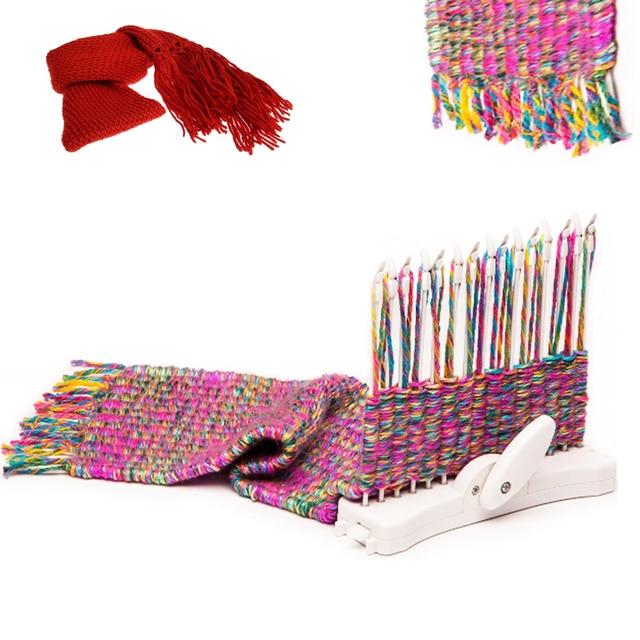 Bufanda de moda máquina de tejer telar de herramienta niño educativo ...