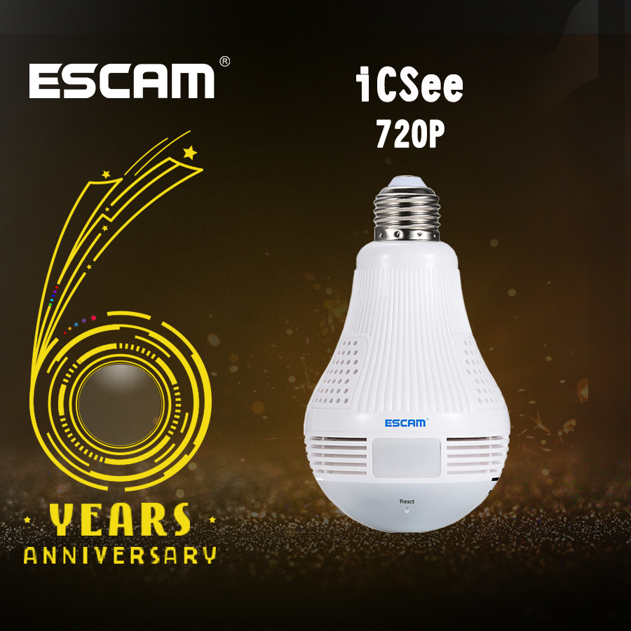 Escam QP136 HD 960P WIFI Security Camera 360 Degree Panoramic H.264 Infrared Indoor Motion Detection Wireless IP Camera escam qp136 960p bulb wifi ip security camera 360 degree panoramic h 264 infrared indoor motion detection ip camera