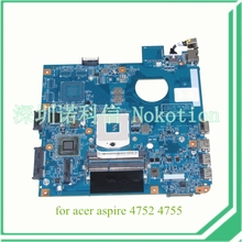 JE40 HR MB 10267-4 48.4IQ01.041 For acer aspire 4752 4755 laptop motherboard HM65 DDR3 MBRPT01001 MB.RPT01.001