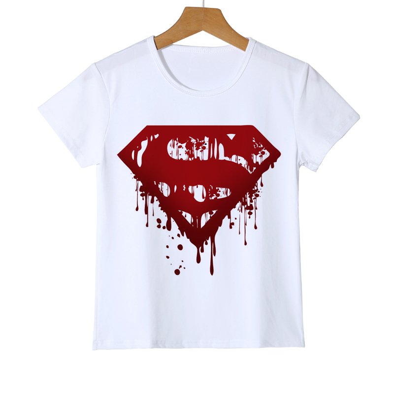 c2212bcf Superman Marvel Movie Men Cosplay T-Shirts superhero Tee Comic LOGO Super  Hero Teen Girls