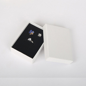 Image 1 - 6.3x8.5x2.5cm Beauty White Jewellery Gift Box Pendant Case Display for Ring Earring Necklace Watch Packaging 32pcs