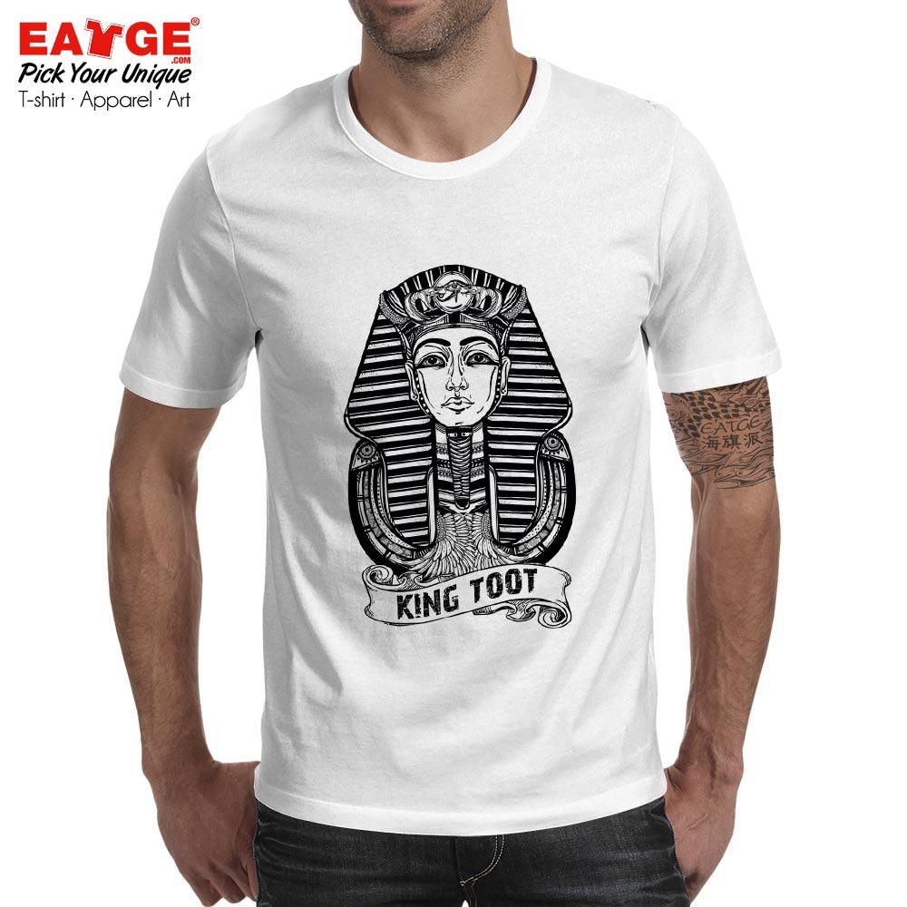 King Tut Pharaoh Mummy T Shirt Mystery Egypt Design Print T shirt Fashion Anime Pop Unisex Men Women Cotton Gray White Tee in T Shirts from Men 39 s Clothing