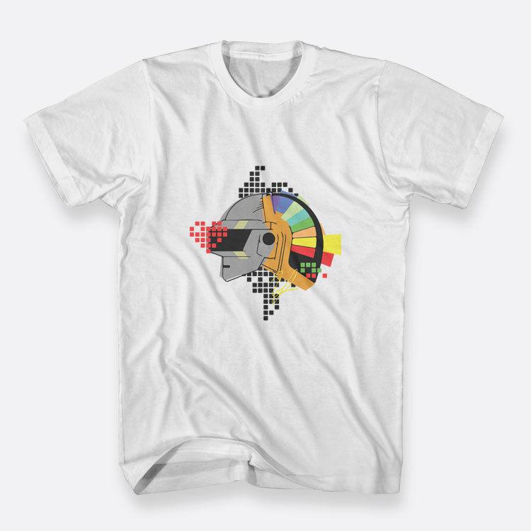 Ремикс Daft Punk белая футболка Размеры S-3XL Для мужчин; хлопковая футболка ...