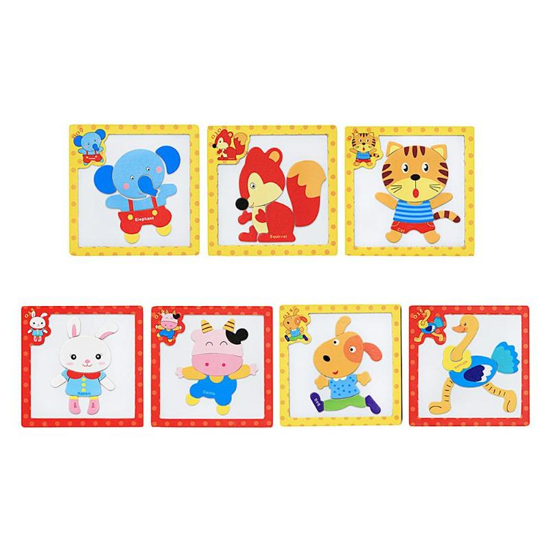 cartoon 3D Cute Magnetic Animals Puzzle Jigsaw Educational Toy Child Gift Cute Baby Funny Toys Magnetic Puzzle Birthday Gift