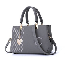 DOLOVE Fashion 2019 New Women's Bag, PU Leather Embroidery  Messenger Bag, Single-shoulder Slanted Boston Tote Bag