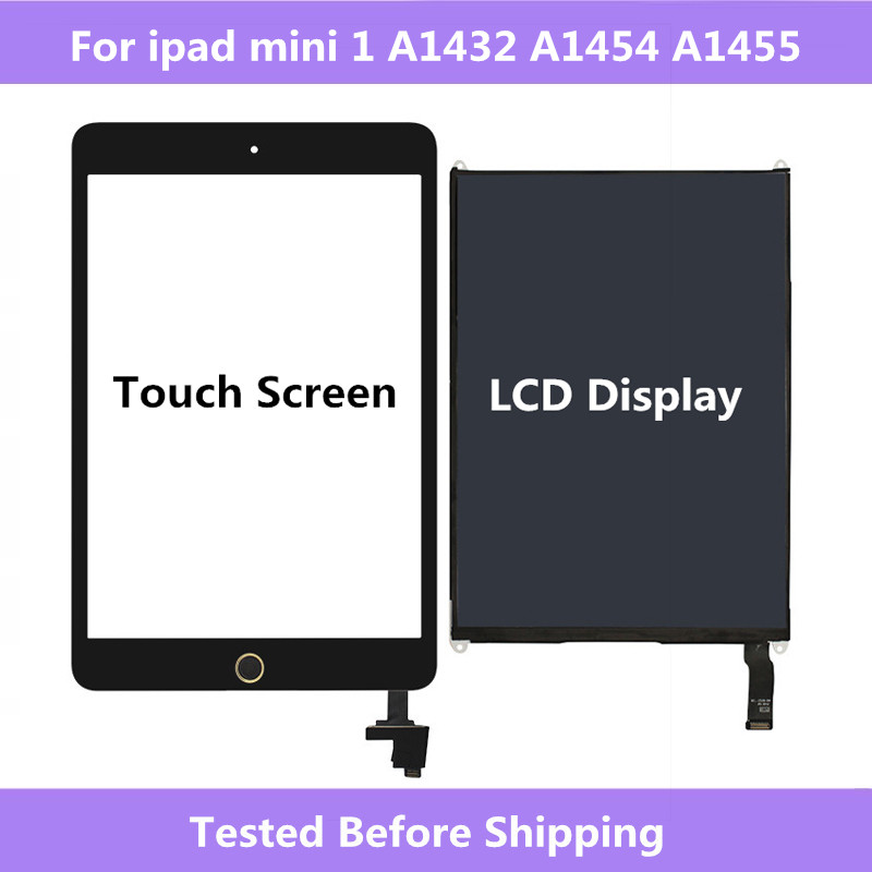 Para ipad mini 1 painel digitador da tela de toque & display lcd peças reparo para ipad mini 1 a1432 a1454 a1455 tablet