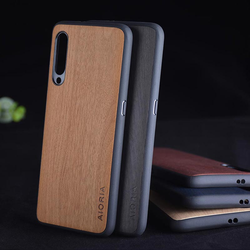 Case For Xiaomi Mi9 Mi 9 Funda Wood Pattern Leather Skin With Silicone Phone Cover For Xiaomi Mi9 SE Mi 9 SE Case Coque Capa