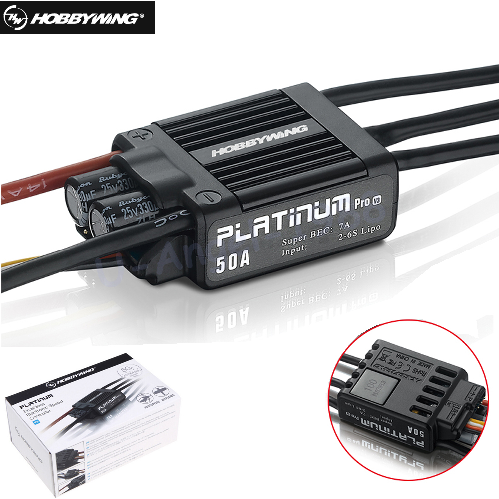 1pcs Original HobbyWing Platinum 50A V3 Brushless Electronic Speed controller ESC for RC Drone Heli FPV Multi-Rotor eset nod32 антивирус platinum edition 3 пк 2 года