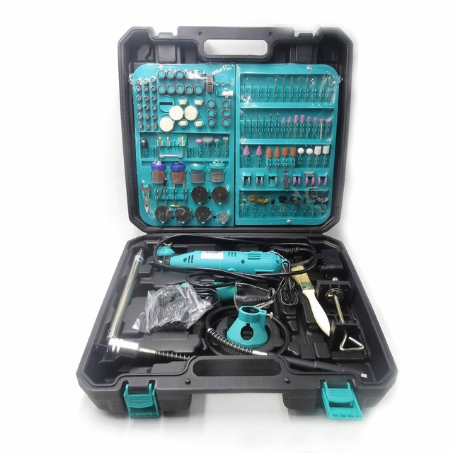 PJLSW 2PCS DIY Drill Engraving Electric Drill Dremel Style New Pen grinder Mini Drill Electric Rotary Tool Mini mill 180w 350 I