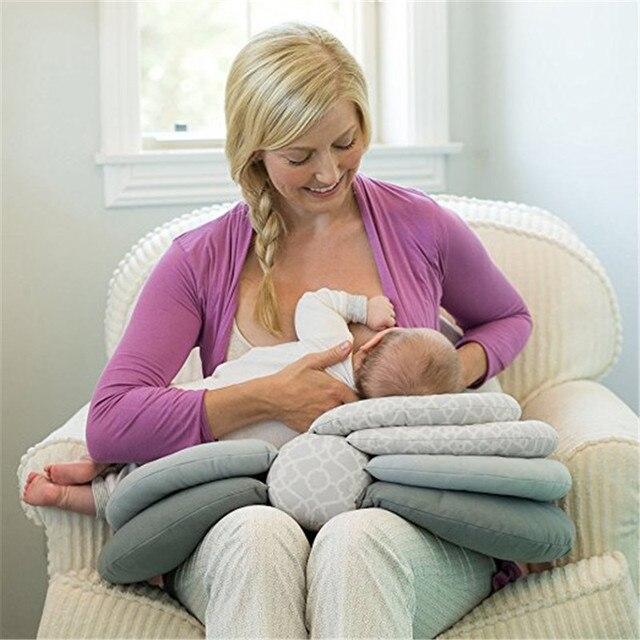 Almohada de lactancia inteligente bebé recién nacido protección de la cabeza de la lactancia madre ajustable cuna Boppy almohadas para la madre del bebé