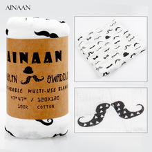 AINAAN Swaddle Muslin Cotton  Baby Swaddles For Newborn Baby Blankets Gauze Bath Towel