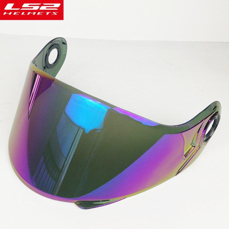 D'origine LS2 FF370 modulaire moto casque pare soleil adapté pour LS2 FF394 FF325 moto casque plein soleil bouclier lentille en verre dans Casques de Automobiles et Motos