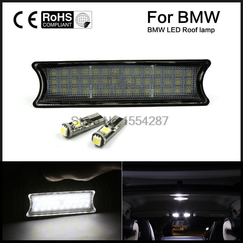Бесплатная доставка для 98-05 BMW Е46 м3 купе 2Д 4Д белый светодиод интерьер крыши свет лампы комплект 12 В постоянного тока 42SMD светодиодные накладные купол света