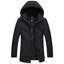2018 de calidad superior de Los Hombres Calientes chaqueta de invierno cálido a prueba de viento prendas de vestir exteriores ocasional grueso medio largo abrigo hombres Parka
