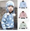 Vestidos 3 colores bobo choses otoño invierno r kikikikds niños sweaters tejidos nubes bebé ropa de los bebés de los suéteres