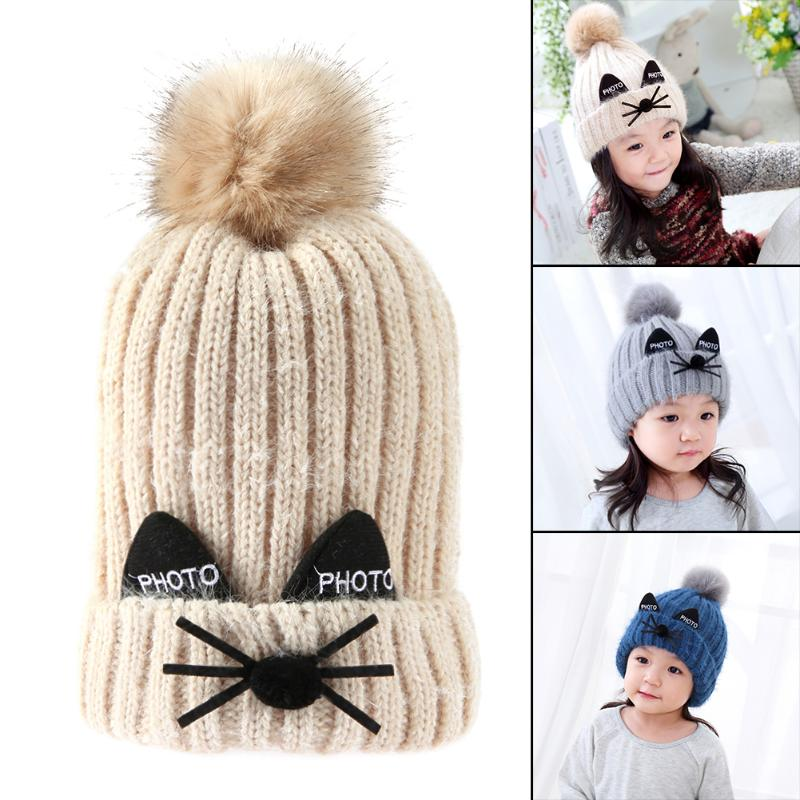 Apparel Accessories Smart Hot New 1 Pc Cute Baby Winter Hat Warm Child Beanie Cap Animal Cat Ear Kids Crochet Knitted Hat For Children Boys Girls
