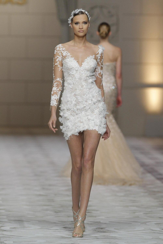 alliance mini mini wedding dress wedding dress robe mariee brautmode New York Hong Kong Paris