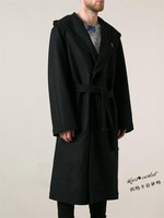 2017 Для мужчин одежда M 6XL высокое качество Для мужчин одежда верхняя одежда коммерческой ультра Длинный дизайн шерстяное пальто тонкий плащ