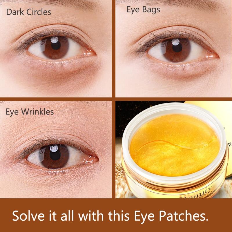 Collagen gold Golden Eye Mask eye care Anti Aging Anti Wrinkles Dark Circle Eye Bags Eliminate Puffy Eyes Fine Line Whitening