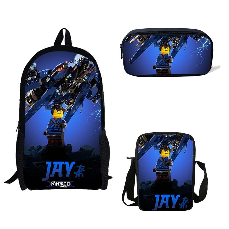 Ninjago Bag Retro Quality Shoulder Bag School College Christmas Messenger
