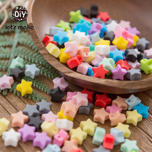 20pcs silicone beads star-shaped shape diy jewelry food grade teether BPA free ecofriendly chewable beads necklace or bracelet