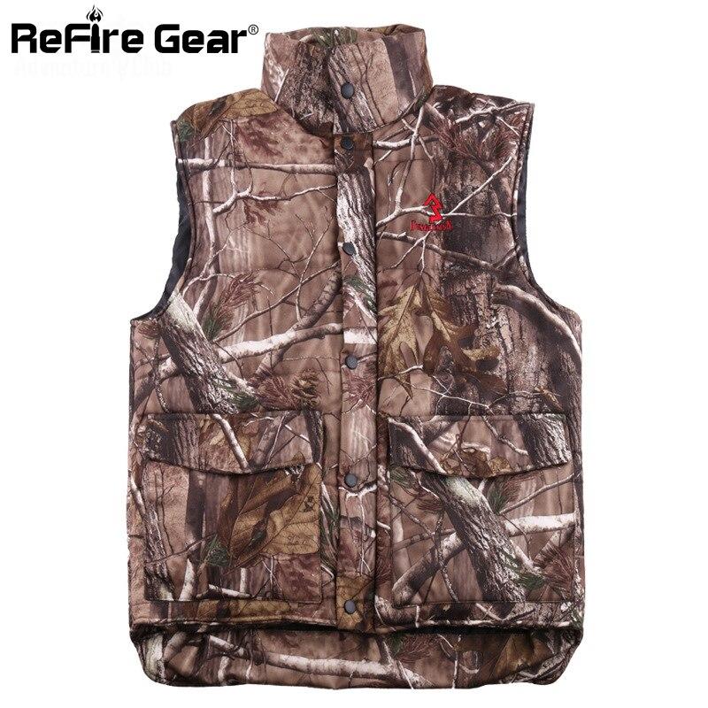 Erkek Kıyafeti'ten Jileler ve Yelekler'de Kış sıcak Kamuflaj Yelek Erkekler Termal Pamuk yastıklı Orman Camo Giysileri Taktik Askeri Kolsuz Ceket Kalınlaşmak Yelek'da  Grup 2